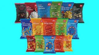 Spar brand crisps and snacks line-up