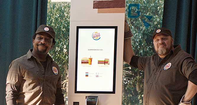 Burger King kiosk