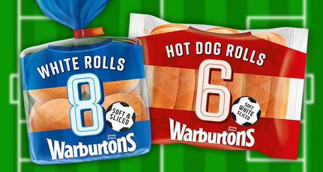 Warburtons football kit packaging