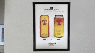 Tennent's Lager framed print
