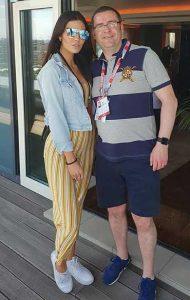 Garry Haigh and friend
