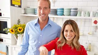 Rachel Stevens and Ben Fogle in Quorn's Back to School activity
