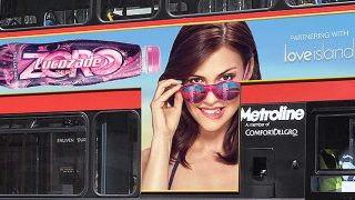 Lucozade Zero bus advert