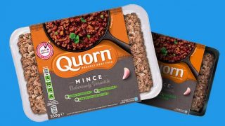 Quorn's black plastic packaging