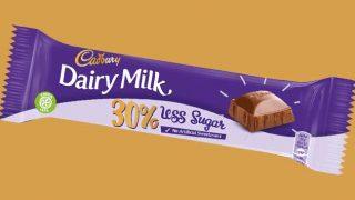 Cadbury Dairy Milk 30% less sugar bar