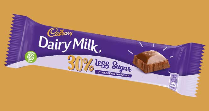 Cadbury Dairy Milk 30% less sugar bar
