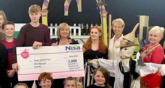 Nisa's charity Making A Difference Locally hands over cheque