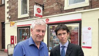 Mike Mitchelson and Justice Minister Rory Stewart