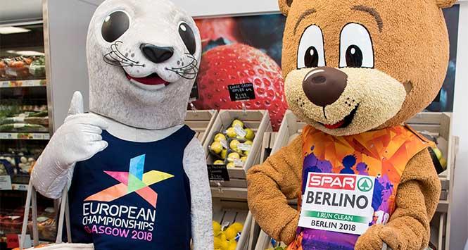European Championships mascots Bonnie and Berlino