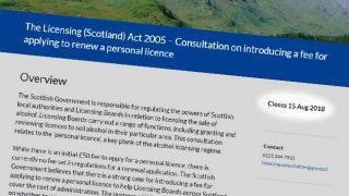 personal licence renewal proposal