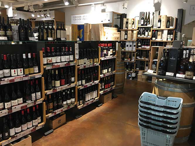 An entire floor of wine offers local, regional, national and global wines.