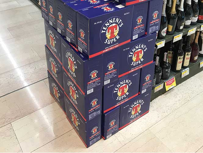 For some historical reason, Tennent's Super Lager remains a firm favourite in Italy, apparently.