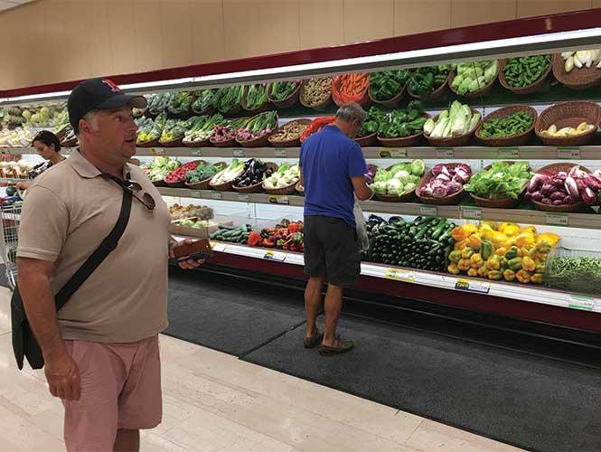 ACS Commercial Director Paul Chamberlain admires the predictably impressive fresh aisle.