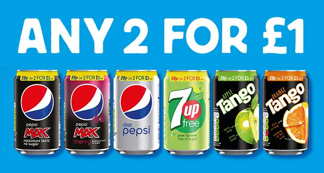 Britvic any 2 for £1 can deal
