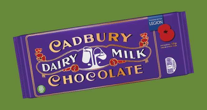 Cadbury Dairy Milk Remembrance Bar