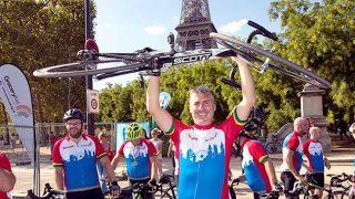 groceryaid London to Paris cyclist
