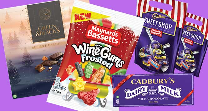 Christmas confectionery from Mondelez