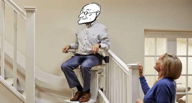UTC on a stairlift