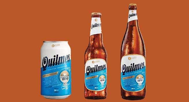 Quilmes bottles and can