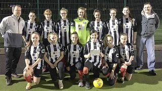 Brigg Town girls' team: recipients of Nisa donation