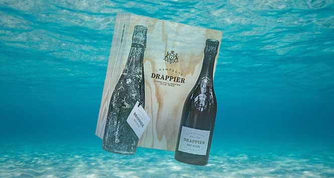 sea aged champagne