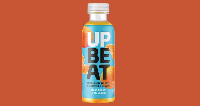 Upbeat blood orange and mandarin protein water