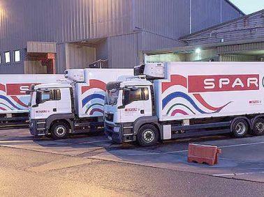 Spar lorry with European Athletics branding