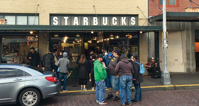 The original Starbucks in Pike Place Market.