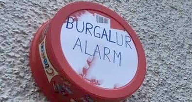 Poor replica burglar alarm
