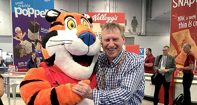 Dennis Williams with Tony the Tiger