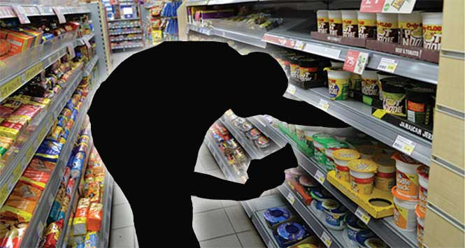 Absent shop worker