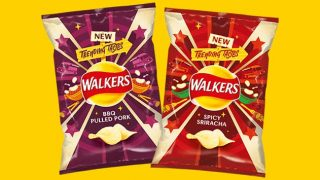 Walkers Spicy Sriracha and BBQ Pulled Pork crisps