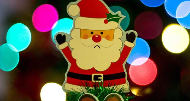 Christmas: sad Santa