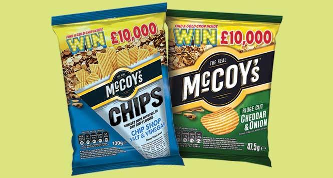 McCoy's Win Gold packs