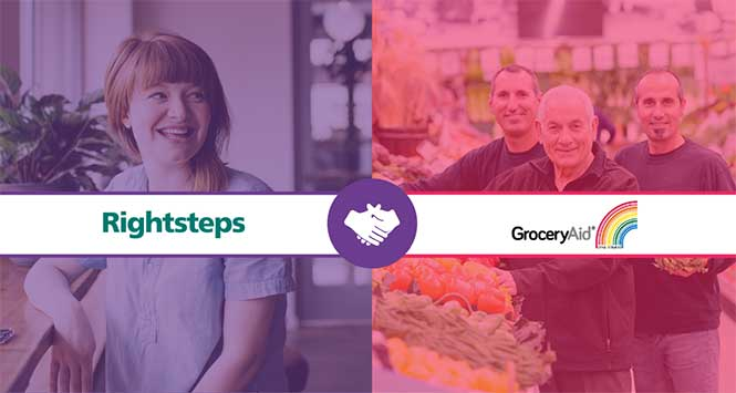 GroceryAid and Rightsteps' wellbeing partnership
