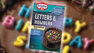 Dr Oetker edible letters