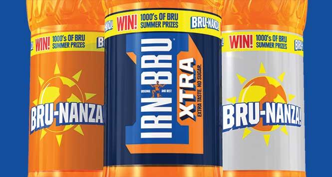 Bru-nanza bottles of Irn-Bru