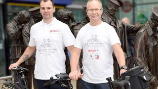 Craig Lundberg and Callum Edge ahead of their charity cycle