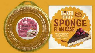 Baker Street flan case and sponge layers