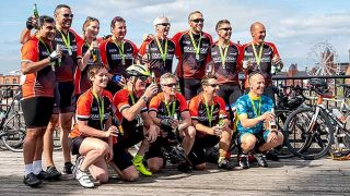 Coast to Coast GroceryAid cyclists