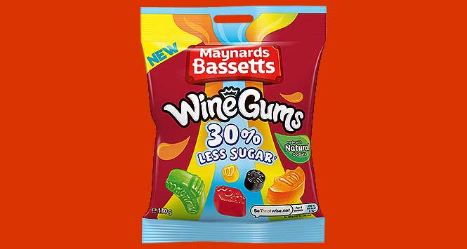 Maynards Bassetts Wine Gums 30% Less Sugar