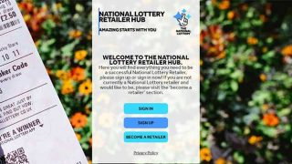 National Lottery retailer hub