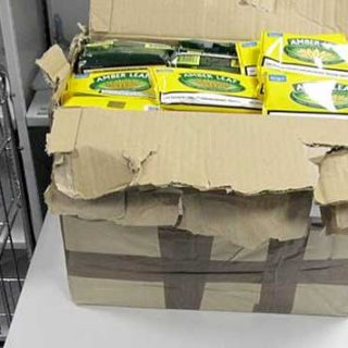 Package full of illicit tobacco
