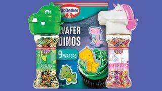 dinosaur sprinkles and unicorn sprinkles
