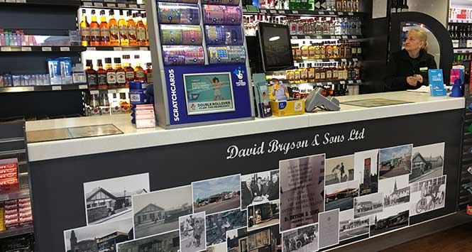 The 117-year history of the business is highlighted in-store.