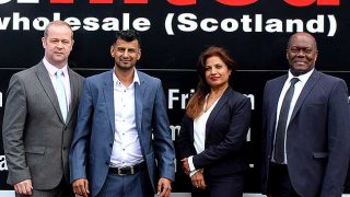 New MD Chris Gallacher, Executive Chairman Asim Sarwar, Commercial Director Anshu Chandra and Finance Director Osmond Ramsay.