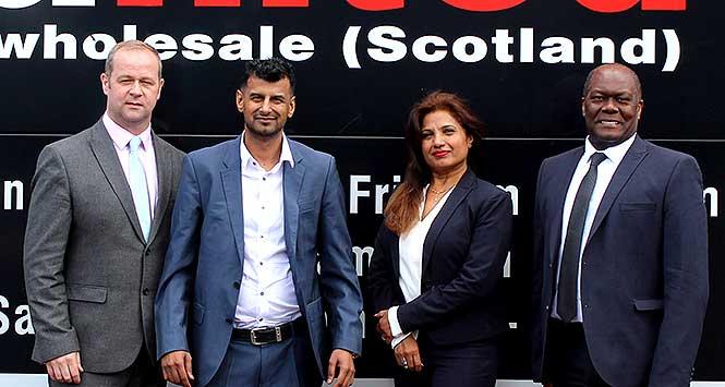 New MD Chris Gallacher, Executive Chairman Asim Sarwar, Commercial DirectorAnshu Chandra and Finance Director Osmond Ramsay.
