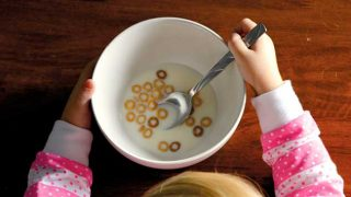 Eating cheerios
