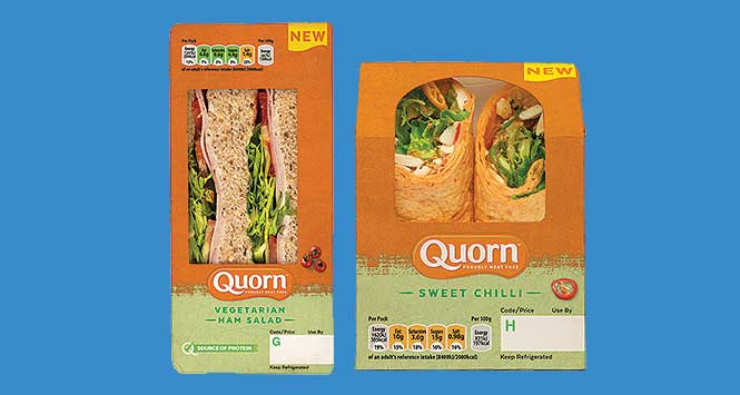 Quorn sandwich and wrap