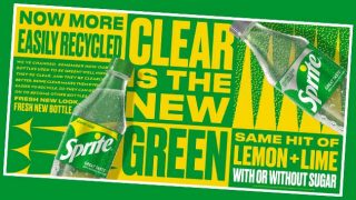 Clear is the new green ad